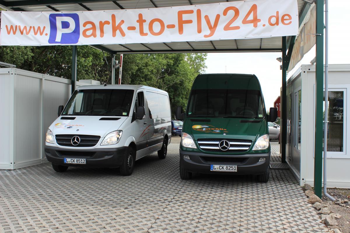 Außenparkplatz Park-to-Fly24 Leipzig